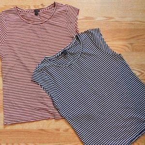 2. J.crew striped shirts.